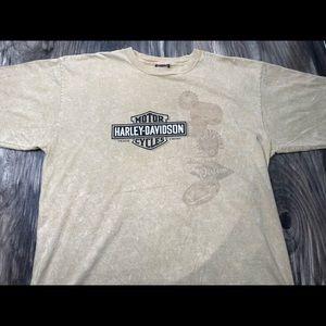 Harley Davidson Richmond VA brown shirt L USA